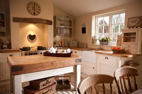 country kitchen clutter