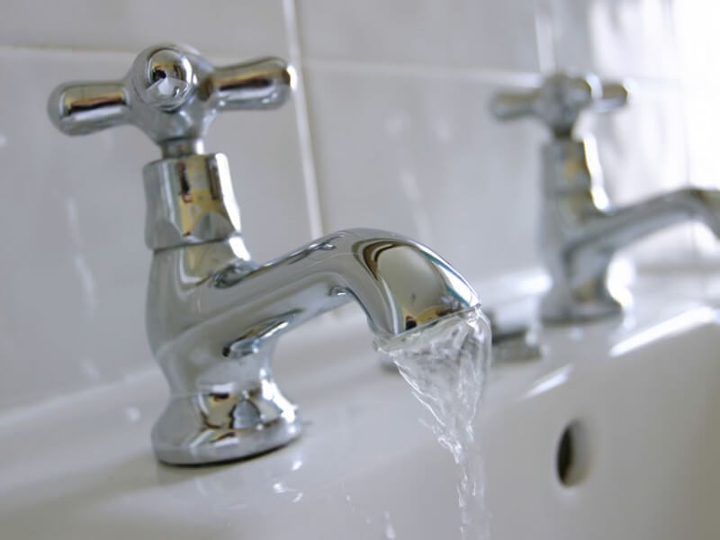 hard water from taps